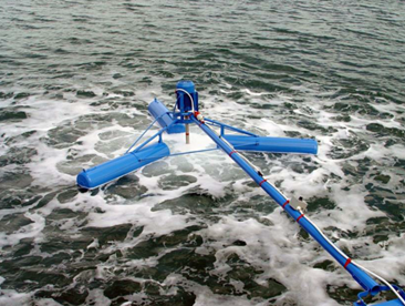 Aireador superficial flotante para lagunas de tratamiento de aguas residuales