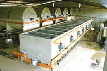 Planta de tratamiento biológico con discos rotativos marca System S&P