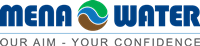 Logo del fabricante de equipo de tratamiento de aguas Mena Water