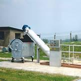 Tamiz de tornillo automatizado instalado en planta de tratamiento de aguas residuales