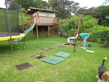 GTWE miniPTAR instalada en un jardin de una casa privada